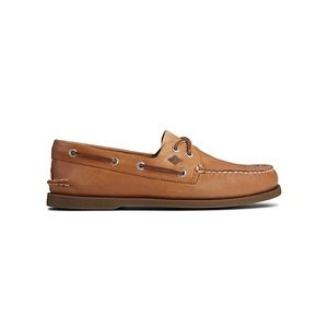 Classic brown leather Sperry topsider boat shoe